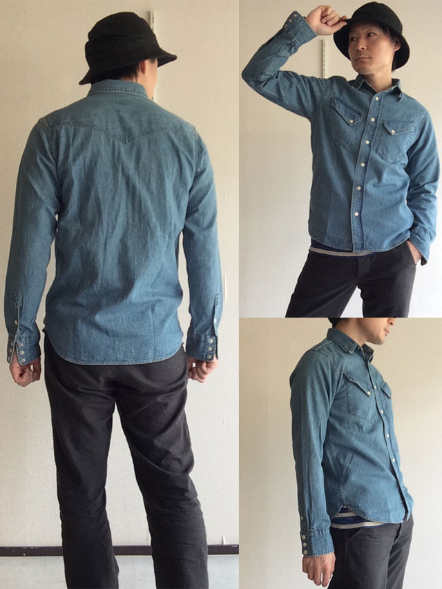 Western Shirt Denim Washed Workers