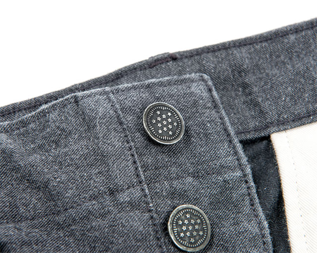 Reversed Sateen Trousers Grey Workers