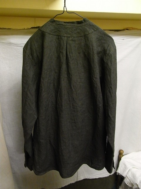 ファーマーズリネンシャツ チャコール farmers linen shirt charcoal/DjangoAtour
