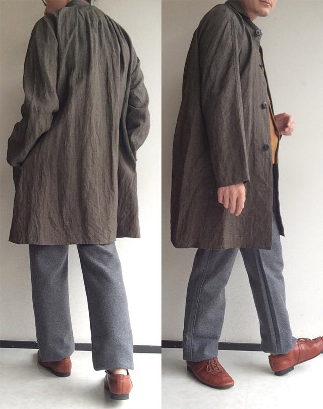 classic farmers linen coat sepia DjangoAtour
