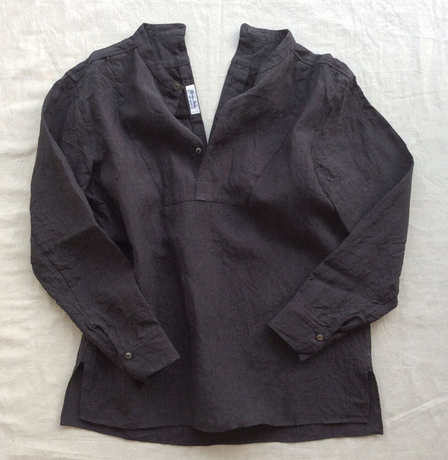 antiqued linen work shirt DjangoAtour