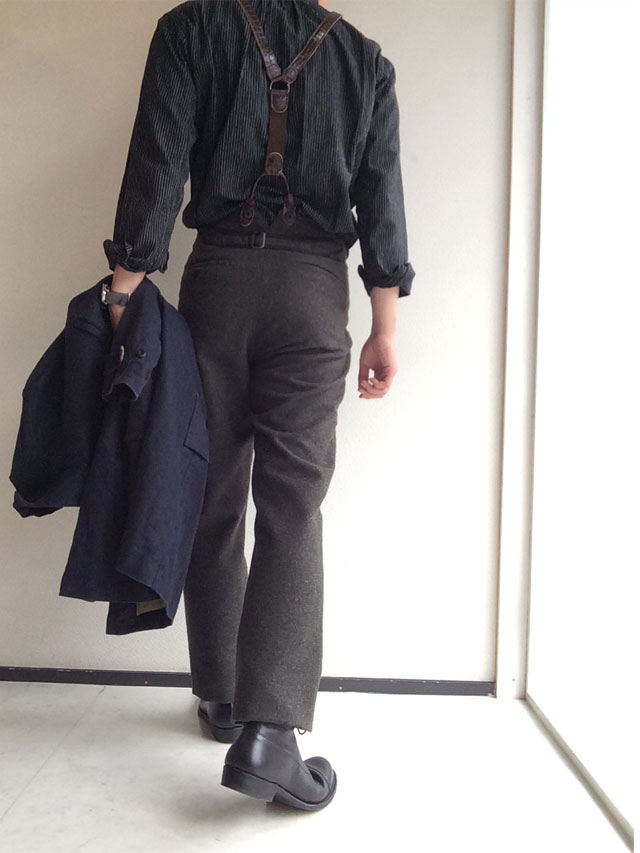victorians wool-melton trousers