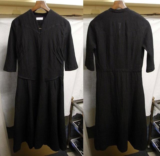 クラシック ブラック リネンドレス classic blacklinen dress / La garbo