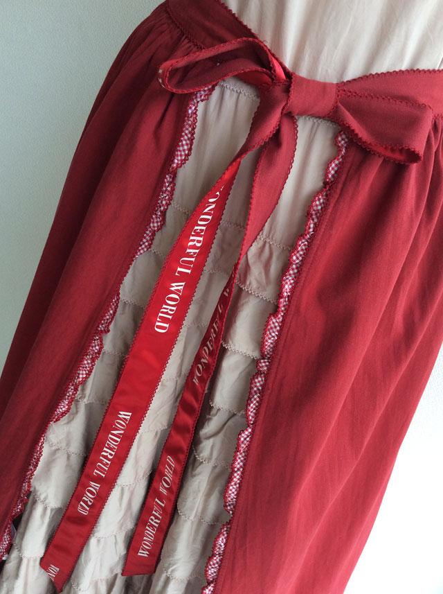 マーガレット刺繍入り4枚はぎオーバースカートワンダフルワールド