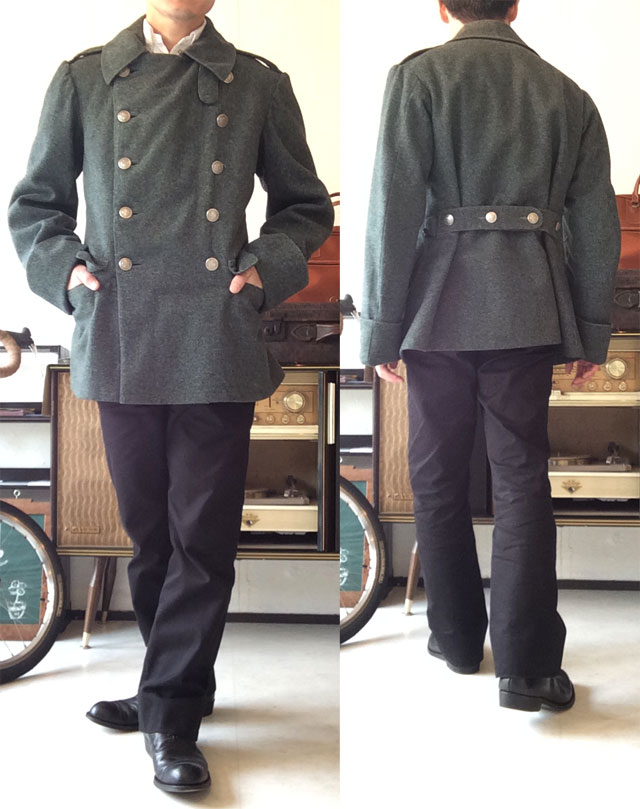 Swedish Military Officer's Coat Greenish Gray