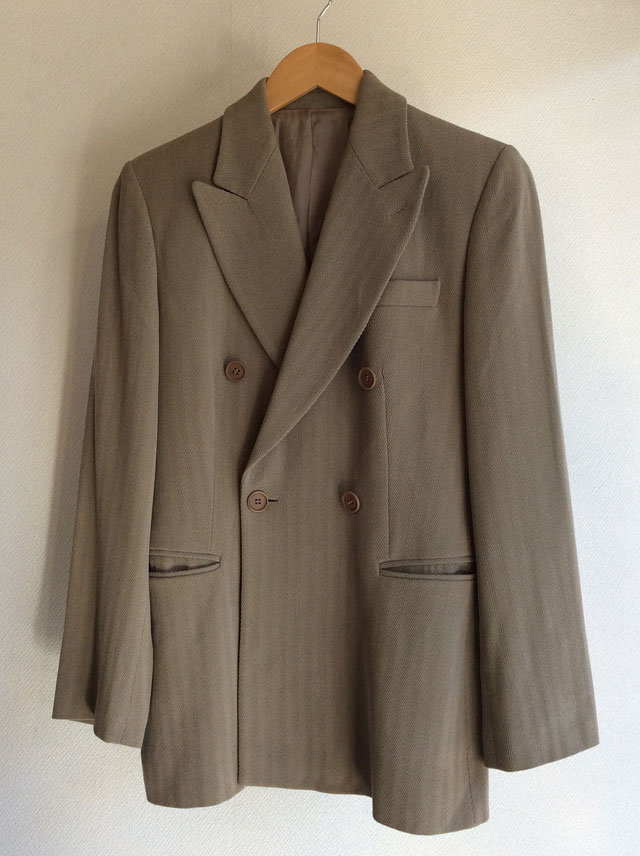 1970's Italian Wool Tailored Jacket Light Grey