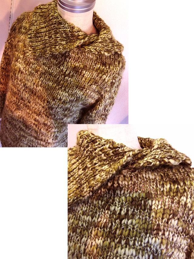 フランスのハンドニットセーター