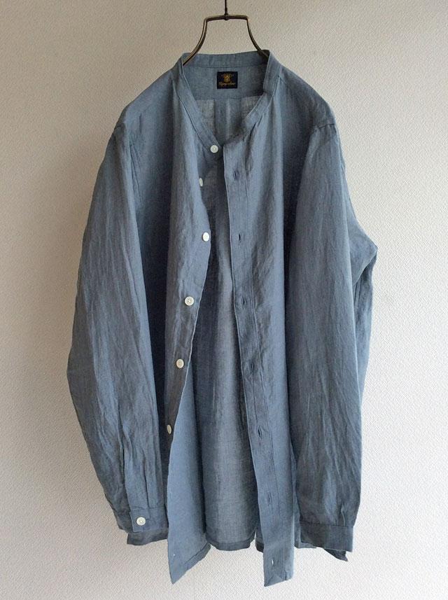 a belgium-linen shirtcardigan