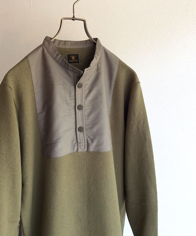 german henley sweat oldkhaki djangoatour