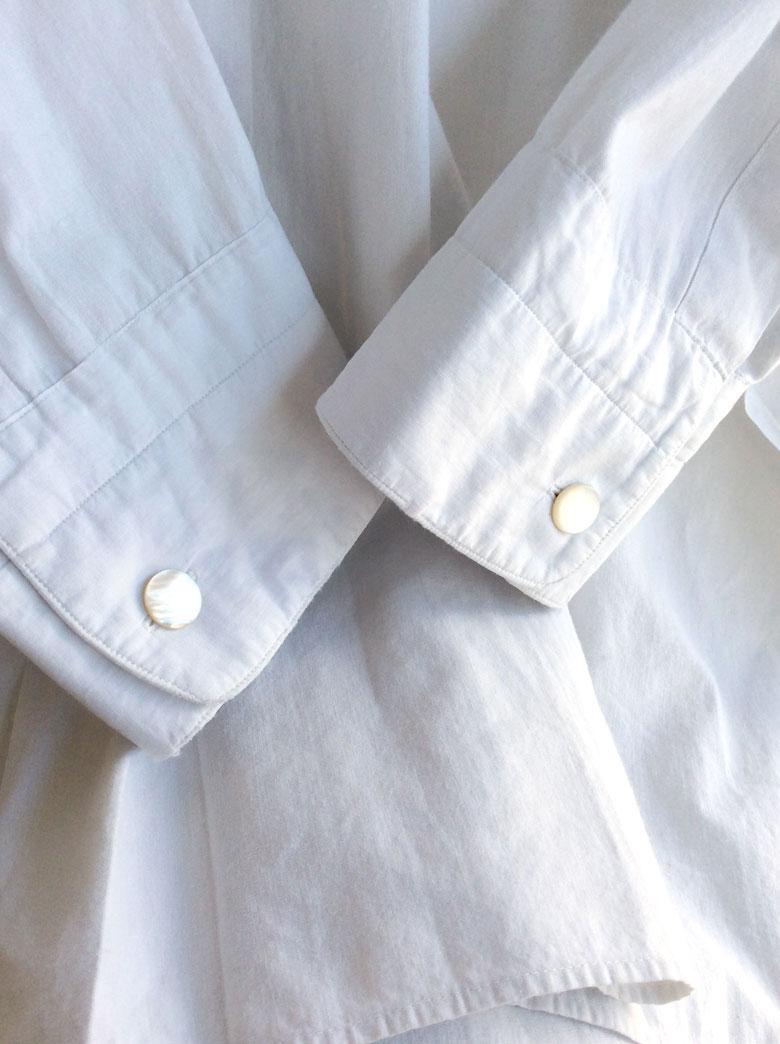 フランスアンティークのスモックシャツ