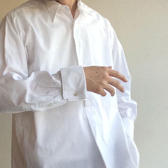1920年代フランスのダブルカフスシャツ