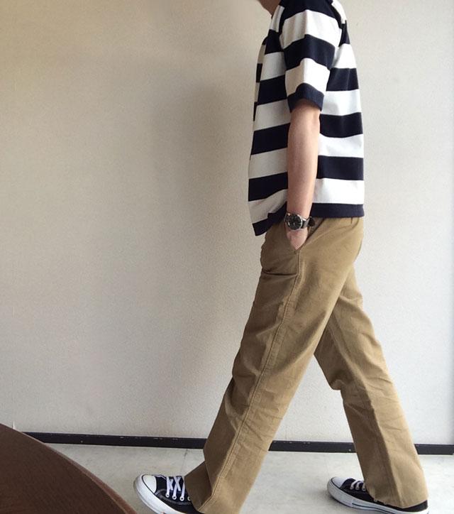 workersヘンリーネックTシャツボーダー