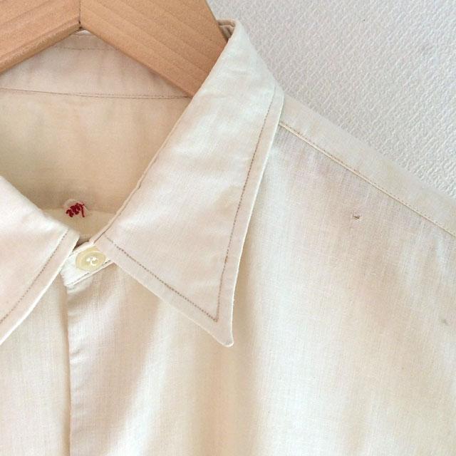 フランスヴィンテージの白シャツ