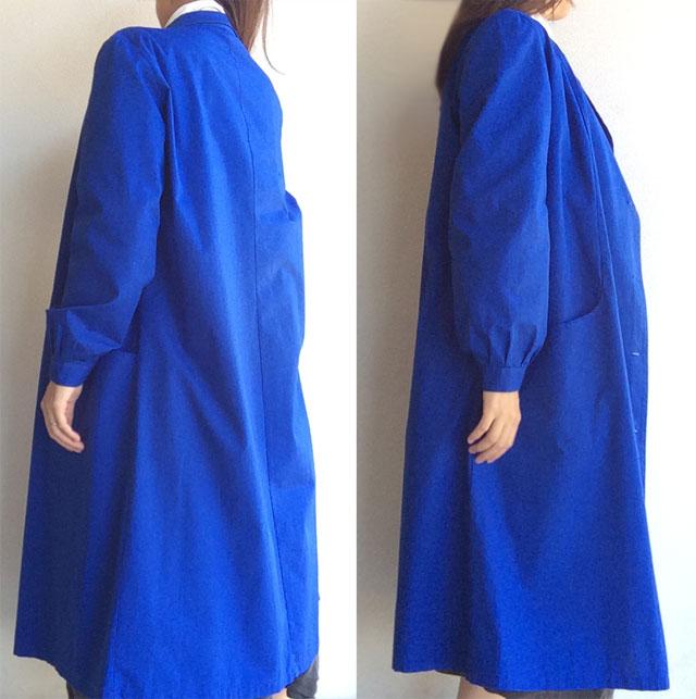 French Work Coat  Blue