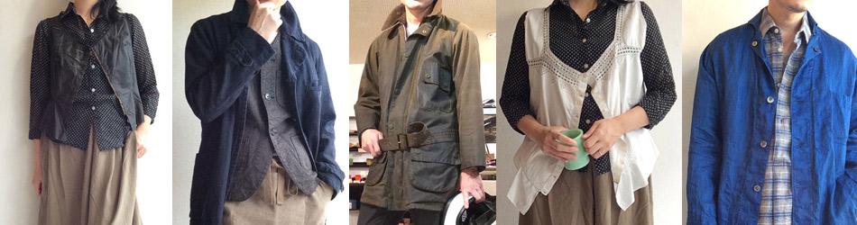 女性服と男性服