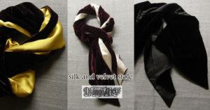 silk and velvet stole ジャンゴアトゥール