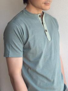 ヘンリースリーボタンハーフスリーブTシャツ dustermint HENLEY 3B H/S TEE