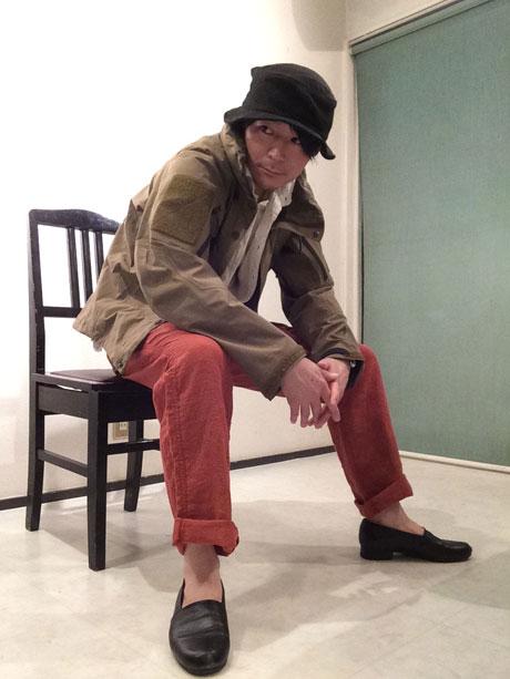 linen hsm loose pants vermilion/DjangoAtour