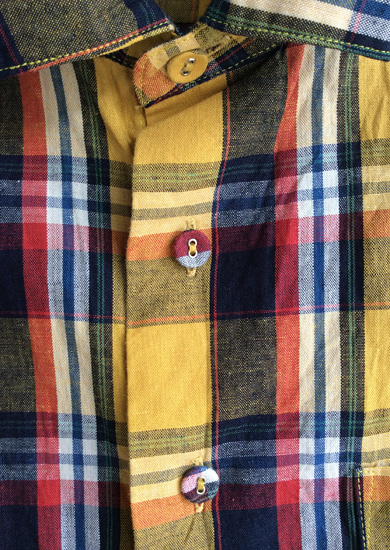 【30%OFF】クラシックチェックシャツ イエローチェック CLASSIC CHECK SHIRT yellowcheck/DjangoAtour