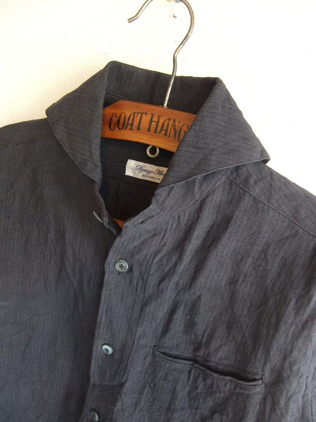 ヴィクトリアンズワークショールカラーシャツ ダークグレー