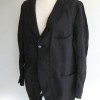 クラシックリネンロングジャケット ブラック  classic linen long jkt/DjangoAtour