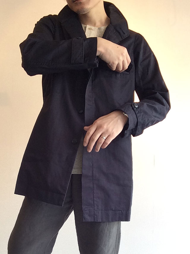 フライフロントUKコート ネイビー flyfront UK coat navy DjangoAtour