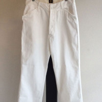 フレンチワークヘリンボーントラウザーズ ホワイト frenchwork hb trousers white