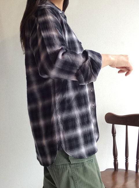 チェックイージーシャツ check easy shirt