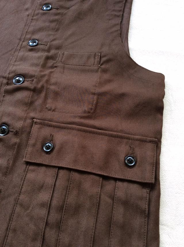 クラシックフレンチハンターベスト ブラウン classic french hunter vest brown