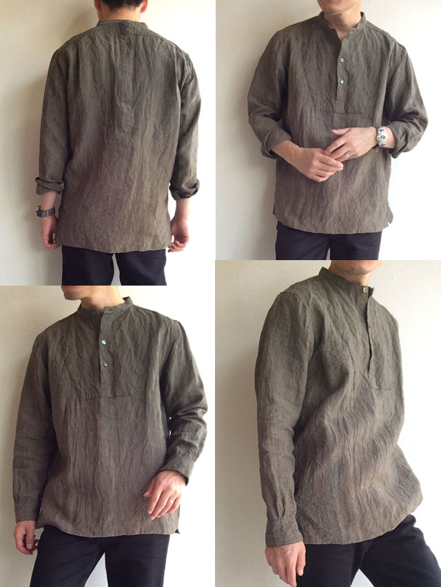 ANTIQUED LINEN  WORK SHIRT Django Atour