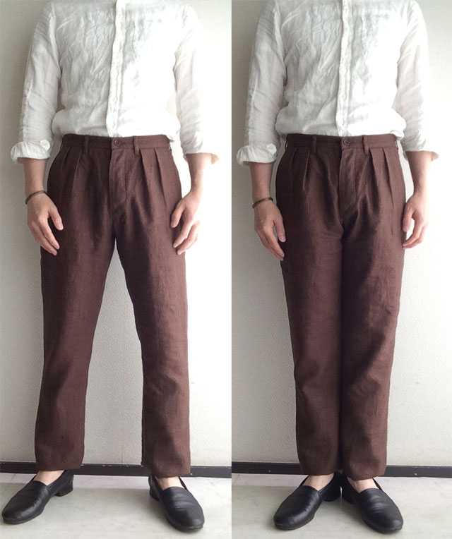 classic linen twotuck frenchtrousers