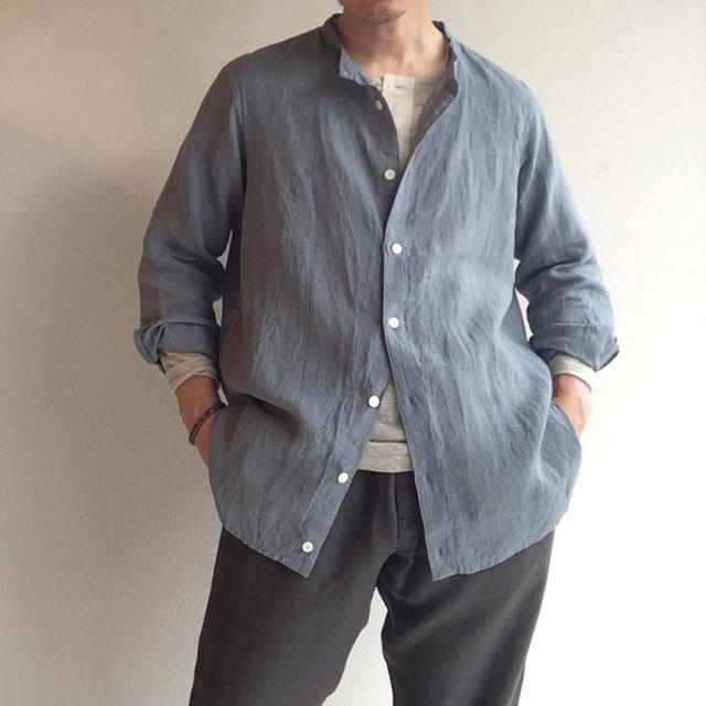 da belgium-linen shirtcardigan celadon