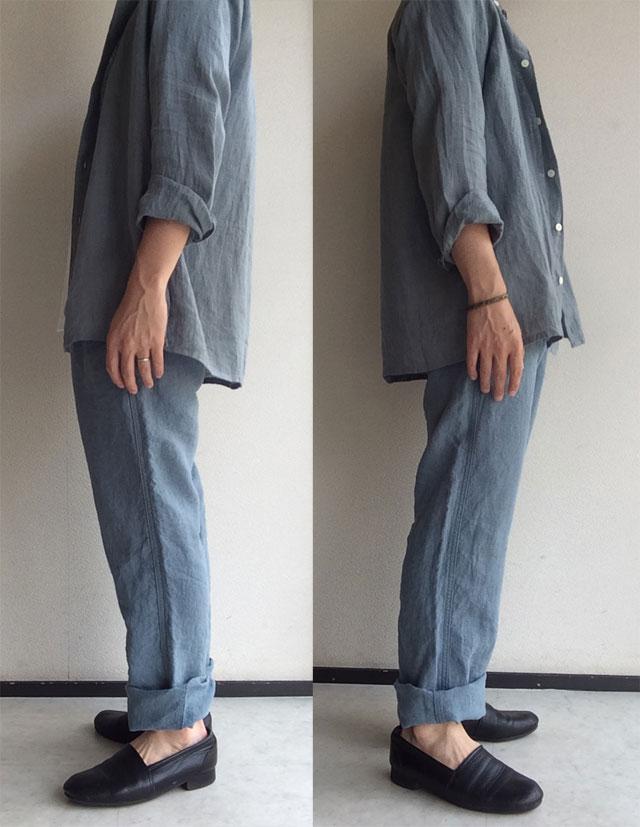 linen easy hsm pants celadon DjangoAtour
