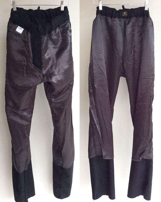 wool easy pants black/DjangoAtour