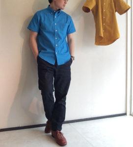ボタンダウンシャツ Blue/KENNETT & LINDSELL