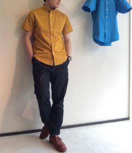 ボタンダウンシャツ Mustard/KENNETT & LINDSELL