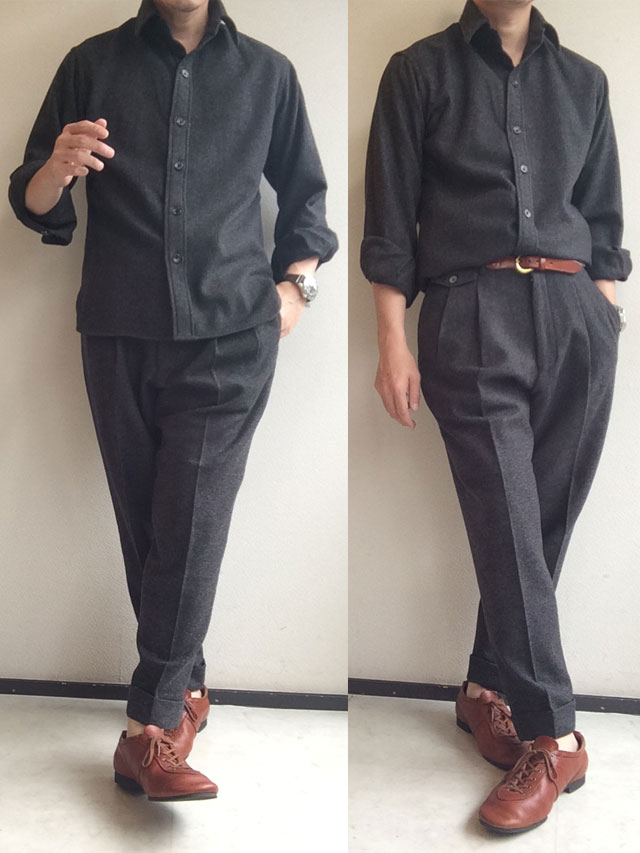 ピンホール シャツ グレー Pinhole Shirt Grey/KAPTAIN SUNSHINE