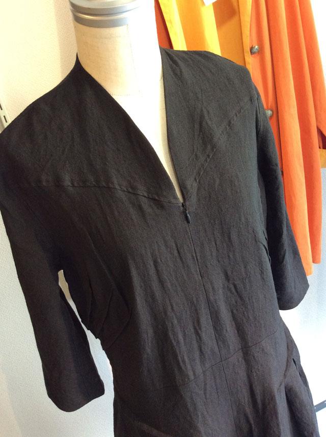 classic blacklinen dress