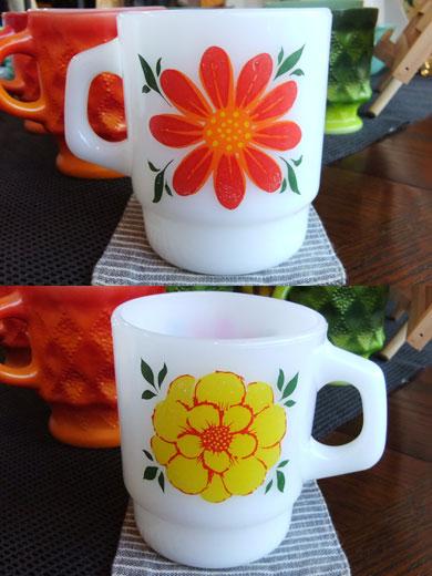Fire-kingデイブレイカー花柄マグカップ