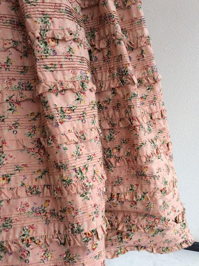 小花柄総フリルワンピースピンク 98年冬 W84FA23/WONDERFULWORLDワンダフルワールド