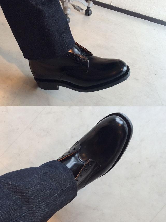 ミリタリーダービーブーツ ブラック Military Derby Boot Black/SANDERS