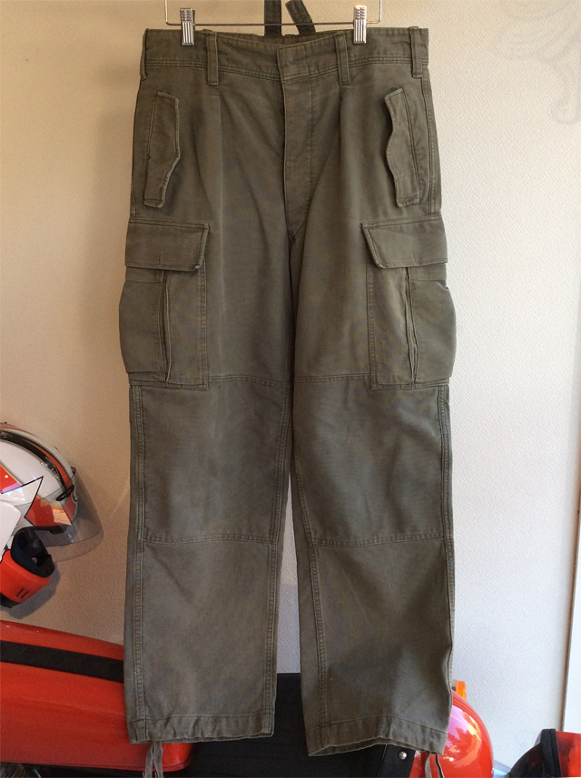 1960's German Military Moleskin Pants Khaki