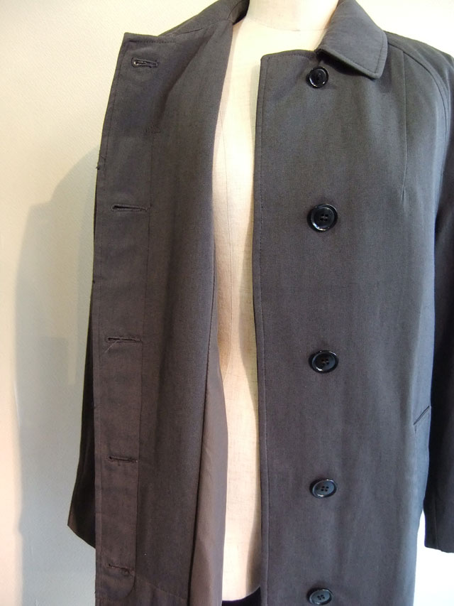 1970's British Royal Army Wool Coat Blueish Grey