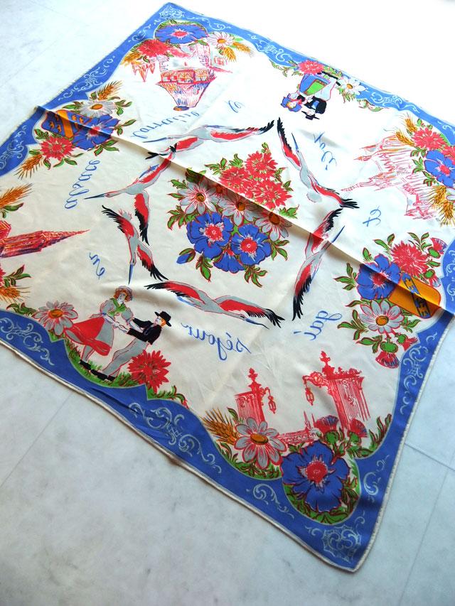 フランスのビンテージスカーフ