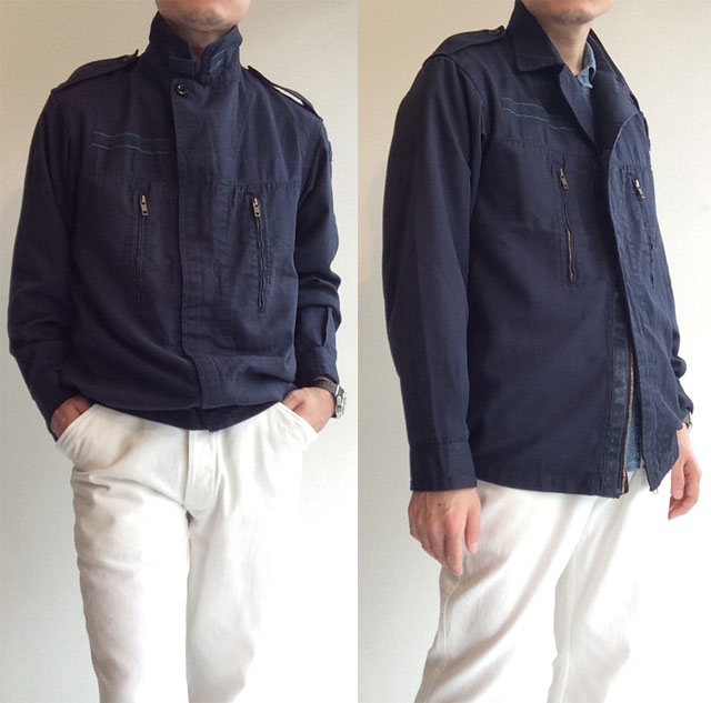 1990's French F-2 Navy Jacket Navy