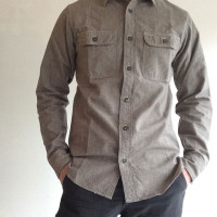 SUPER BIG CAT Shirt, Gray Covert/Workers