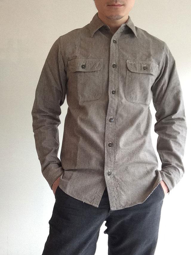 SUPER BIG CAT Shirt, Gray Covert/Workers