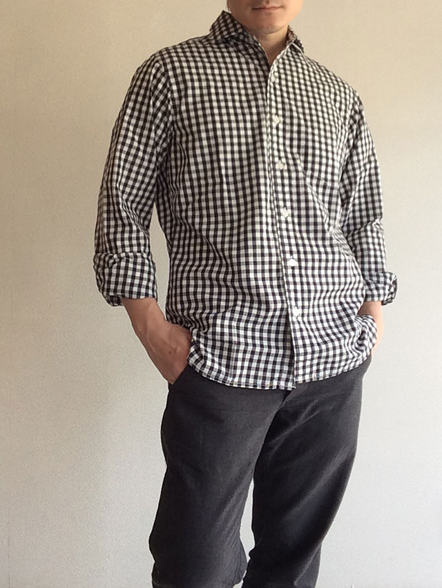 Widespread Shirt, Black Gingham/Workers