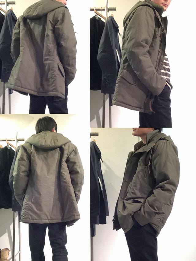 N-3 Puff Jacket,Khaki/Workers