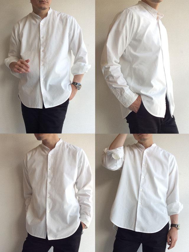 WORKERSバンドカラーシャツ
